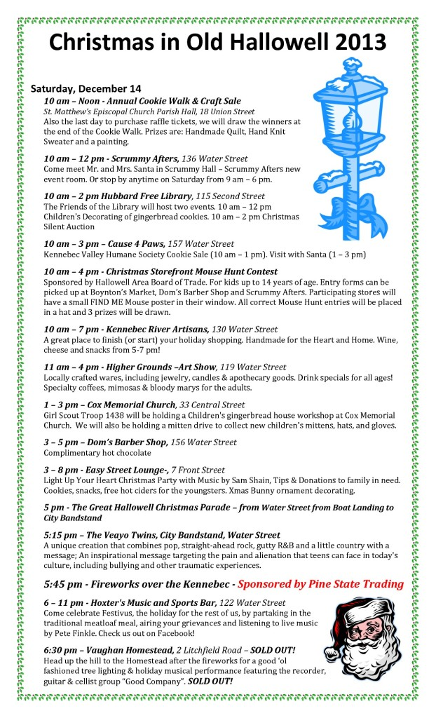 2013 Christmas in Old Hallowell schedule-002-002