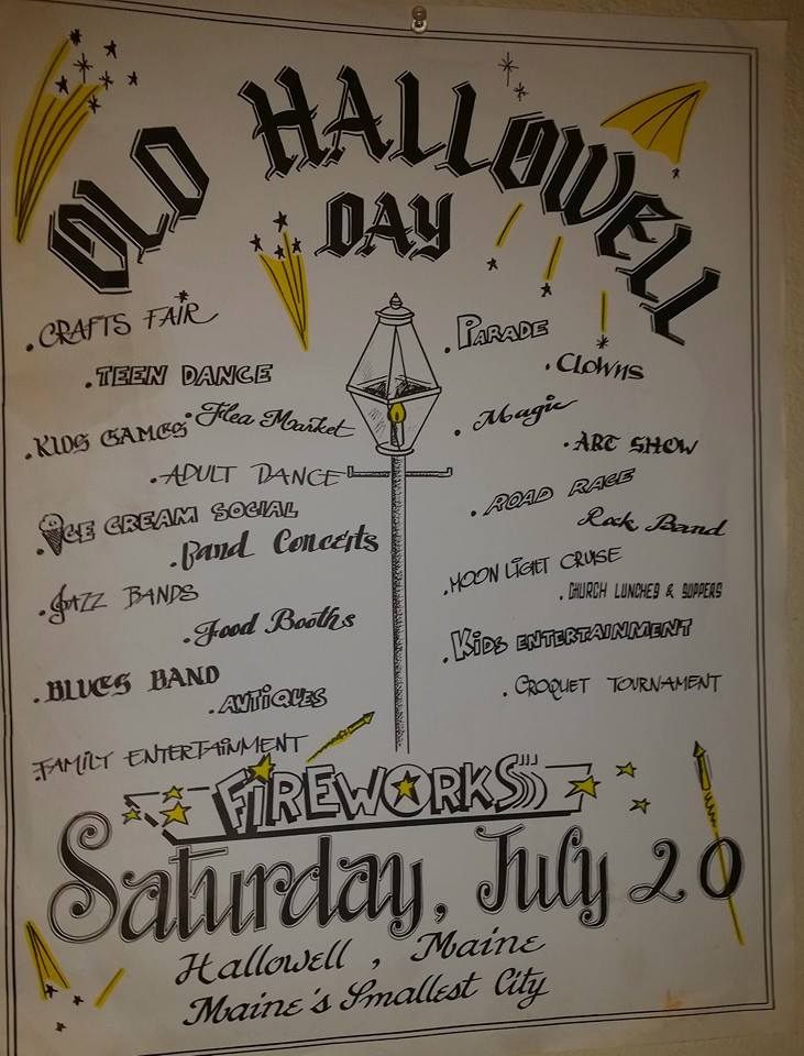 Vintage Old Hallowell Day Poster