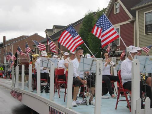 Hallowell Community Band - photo by Nancy McGinnis