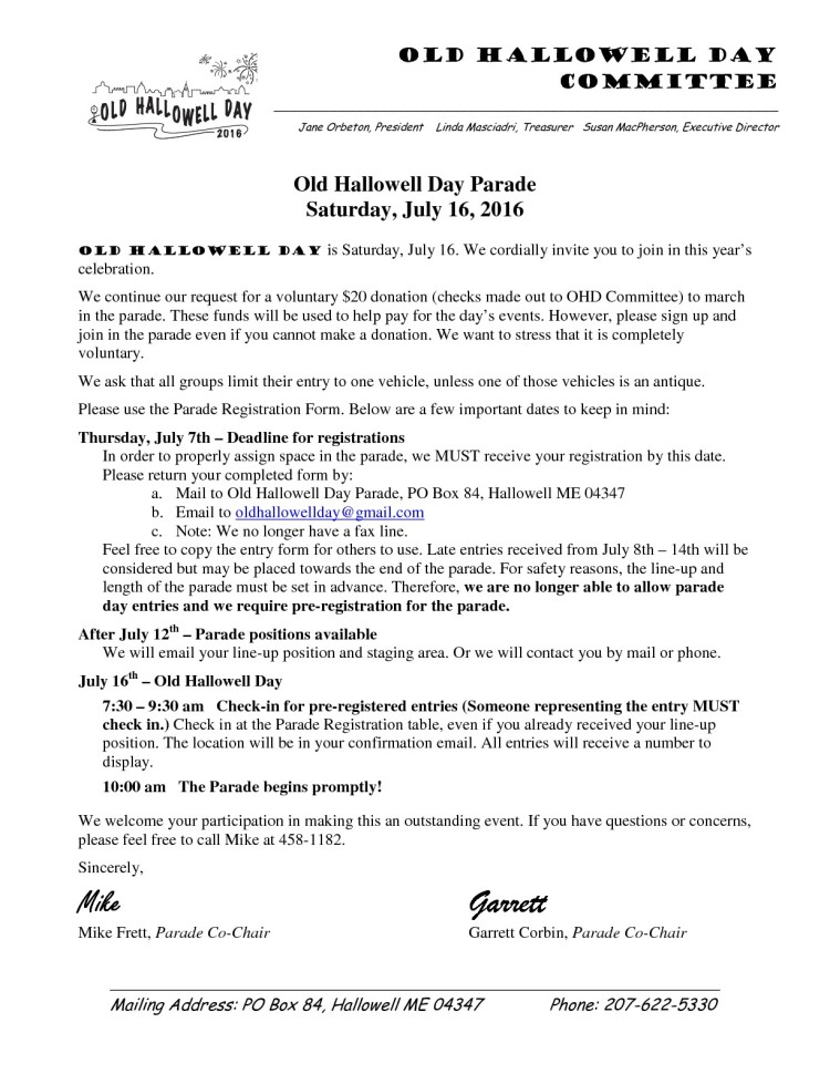 OHD Parade Registration 2016-001-001